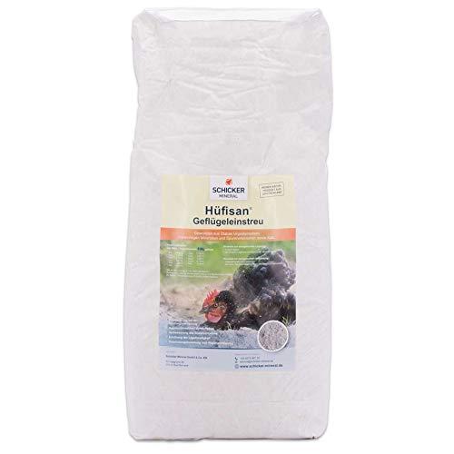 Hüfisan Geflügeleinstreu 25 kg aus Diabas Urgesteinsmehl von Schicker Mineral, Sandbad für Hühner und Geflügel natürlich gegen Milben, Bekämpfung von Parasiten