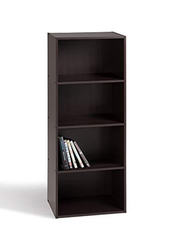 Alsapan 92421  Cube 04 - Estantería de cuatro niveles (40 x 29 x 106 cm), color negro