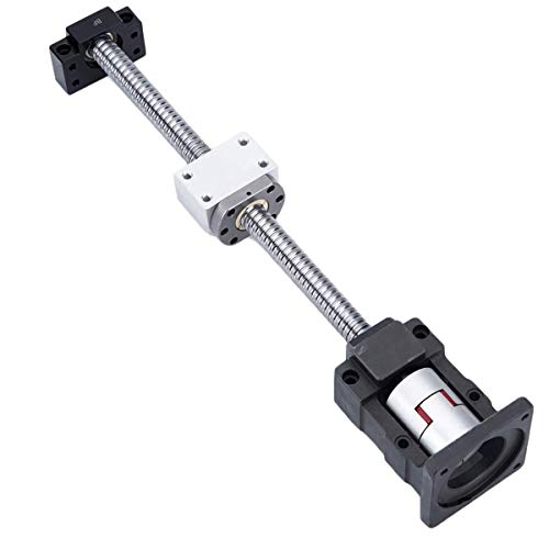 Mssoomm Ball Screw SFU2010 RM2010 20mm Length 11.81 inch / 300mm with Ball Screw Nut+ BK/BF15 End Supports+ Coupler+ Nut Housing+ Motor Bracket for Nema 23 Stepper Motor with End Machining