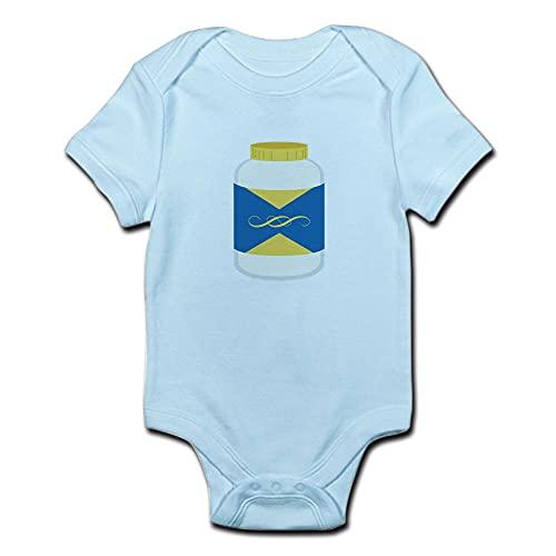 ABADI - Body per neonato con vaso di maionese bianco 9 mesi