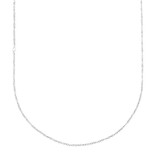 Silpada 'Flat Twist' Charm Chain Necklace in Polished Sterling Silver, 18