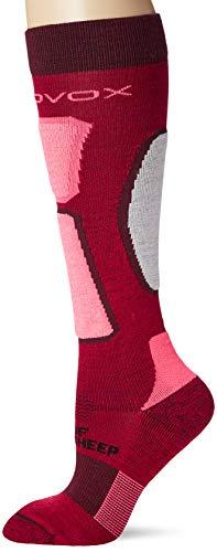 Ortovox Damen Ski Rock'n'Wool Socken, Dark Blood, 39-41 (M)
