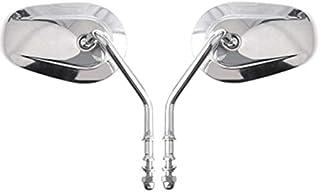 SODIAL Specchietto Retrovisore Laterale per Specchietti Retrovisori per JK JKU JL 1987-2019 per Harley XL 883 1200 Argento