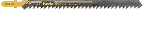 KWB 49623220 Set de 2 hojas sierra de calar, madera grueso, Piezas