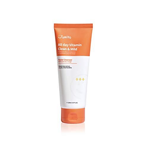 JUMISO All day VITAMIN Clean & Mild Facial Cleanser, Low pH, Vitamin, Vegan, Sensitive skin