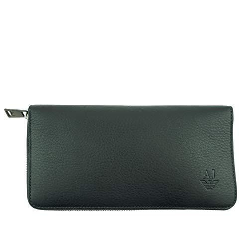 ARMANI JEANS Damen Women Portemonnaie Geldbörse Wallet Leder Leather (Dunkelblau)