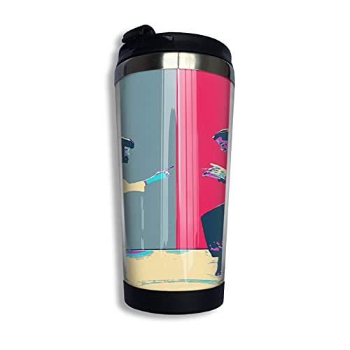 DJNGN Pulp Fiction Revisited - Vincent Vega y Mia Wallace - The Dance Taza de viaje Taza de café Vaso aislado al vacío de acero inoxidable 13.5 oz