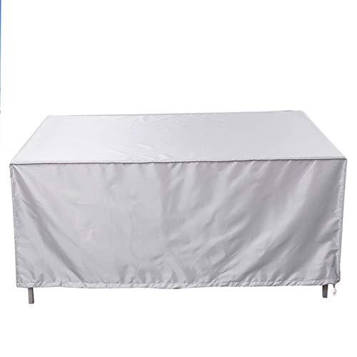 KANGLIPU Funda Protectora 231x231x30cm Impermeable Anti-UV Sofá Chaise Longue Funda Resistente A La Intemperie para Muebles de jardín y Exteriores, Plata