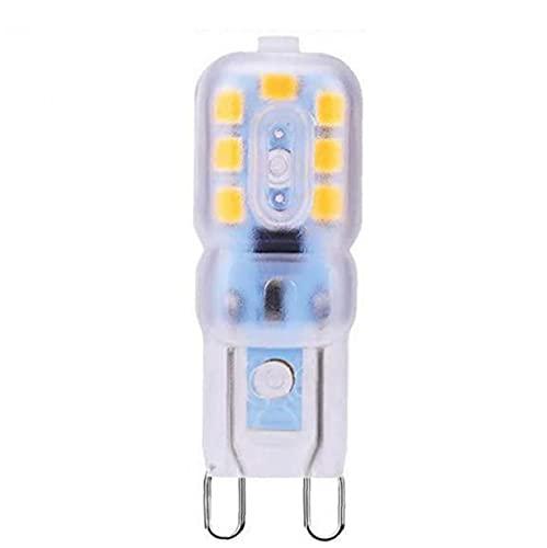 DierCosy Luz LED G9 Bombilla Mini cápsula de lámpara Ahorro de energía 220-240V con 14 Granos Amarillos Premium