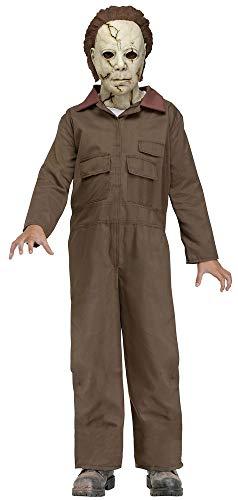 shoperama Halloween Kinder-Kostüm Michael Myers inklusive Maske mit Haaren Horror-Film Serienmörder Killer Psychopath, Größe:M - 8 bis 10 Jahre
