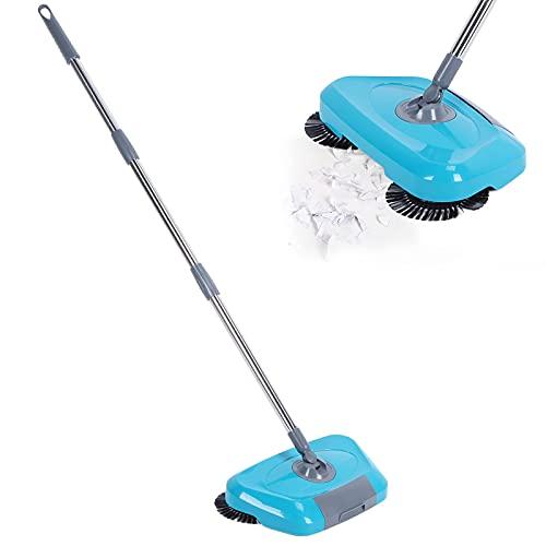 minifinker Barredora Manual, barredora portátil con Cabezal de trapeador de Fibra de precisión, en seco y en húmedo, Fuerte Capacidad de descontaminación, Suministros de Limpieza para el hogar