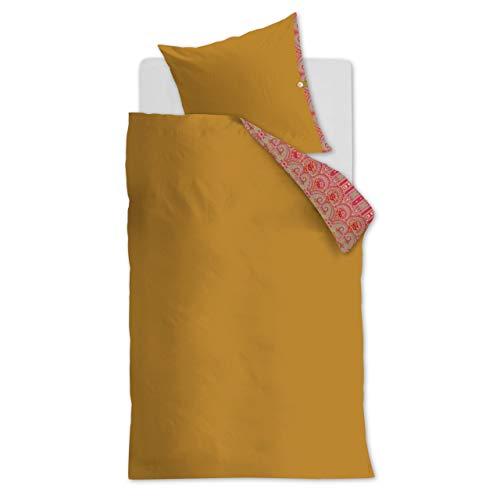 Oilily Mako Satin Bettwäsche 2 teilig Bettbezug 135 x 200 cm Kopfkissenbezug 80 x 80 cm Paisley Ovation 180246 Gold