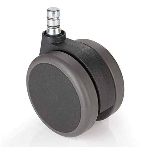 hjh OFFICE 3 inch Office Chair Caster Wheels 7/16 inch Stem Diameter (Set of 5) Casters for Hard Floors