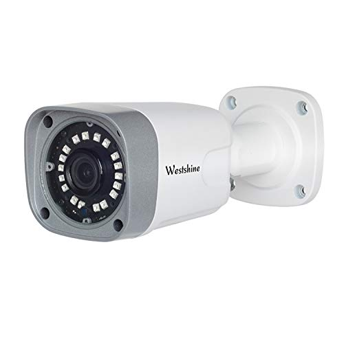 Westshine 5MP AHD Bullet Camera 4MP TVI/CVI Cámara de Seguridad IP66 en el Exterior/Interior, visión Nocturna, ángulo de visión Amplio,Ajuste para 5MP AHD DVR 4MP TVI/CVI DVR y 960H DVR