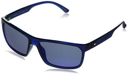 Tommy Hilfiger Men Rectangular Eyewear Blue Frame Blue Lens X-Large