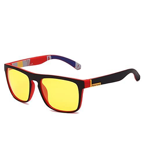 Gafas De Sol Gafas De Sol Unisex Cuadradas Vintage Gafas De Sol De Marca Famosa Sunglases Gafas De Sol Polarizadas para Mujeres Hombres 2-Kpd1911-C1