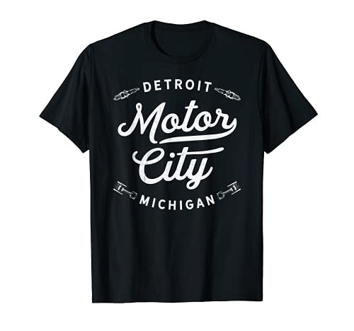 Classic Detroit Motor City Michigan Retro Auto Souvenir Camiseta