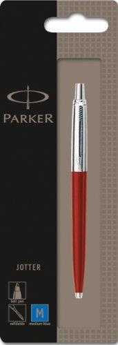 Parker S0881121 - Penna a sfera Jotter, spessore M, colore fusto: Rosso/Argento