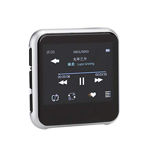 ASHATA MP3-Player, MP3-Player mit Bluetooth 5.0 2.3 Zoll 320x240 TFT Voll-Touchscreen Bluetooth 5.0 Musik-Player, HiFi Lossless Sound Musik-Player zum Laufen(8G)