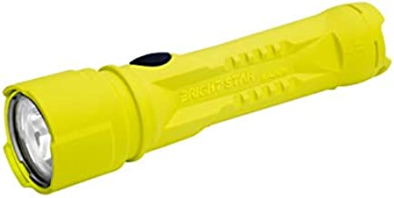 BrightStar Razor 2 LED Flashlight   Intrinsically Safe, 325 Lumens, Super Bright and Explosion Proof American-Made Flashlight for Work, Industrial Use, Emergencies, Camping, More, Yellow