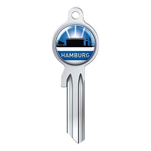 Basi Fanschlüssel Schlüsselrohling Schlüsselanhänger Fanartikel Schlüsseldienst City-Key Skyline Hamburg