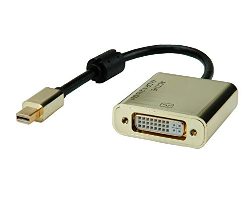 ROLINE GOLD Mini Displayport-DVI Adapter mit Kabel I Mini-DP St - DVI Bu I 0,10 m
