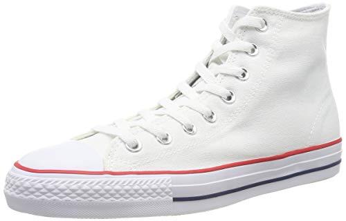 Converse Unisex-Erwachsene Skate CTAS Pro Hi Textile Fitnessschuhe, Weiß (White/Red/Insignia Blue 101), 48 EU