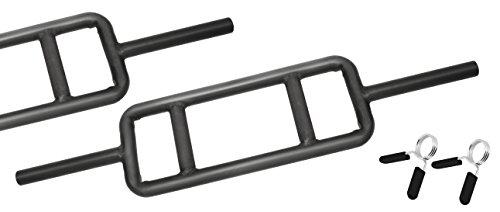 Bad Company Trizeps-Hantelstange Black inkl. Federverschlüssen 30/31 mm