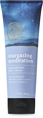 Bath and Body Works Body Care Aromatherapy Moisturizing Body Cream w/Essential Oils - 8 oz Many Scents (Stargazing Meditation - Bergamot Patchouli Vetiver)