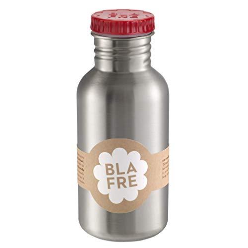 Blafre - Flasche aus recyceltem Edelstahl, 500 ml, rot – klassisches Design und eine super Möglichkeit, Wegwerf zu vermeiden, 4575