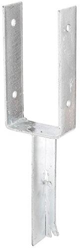 GAH-Alberts 216795 U-Pfostenträger mit Betonanker aus T-Eisen - feuerverzinkt, lichte Breite: 101 mm