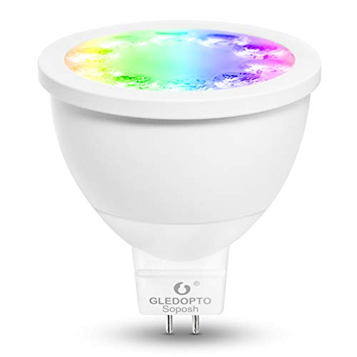 Gledopto Smart Zigbee Small Voltage 12V 4W RGBCCT MR16 Spotlight 30° Beam Angle Smart Phone App/Voice Control Compatible with Hue Bridge SmartThings Alexa Echo Plus (Require ZigBee Hub)