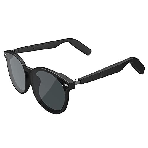 GSYNXYYA Gafas Bluetooth Conducción Ósea,Gafas De Sol Inalámbricas Deportivas Al Aire Libre Estéreo, Reducción De Ruido Inteligente para Música/Llamadas (3.7V / 80Mah)