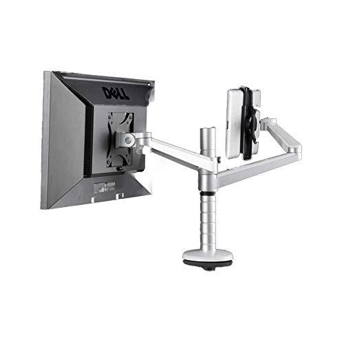 LIPENLI Párese ordenador 360 giratoria de aluminio de 10 pulgadas 9 pulgadas Monitor de 27 pulgadas de doble soporte Tabla 9-10 pulgadas individual del cojín de escritorio de montaje Soporte for TV (C