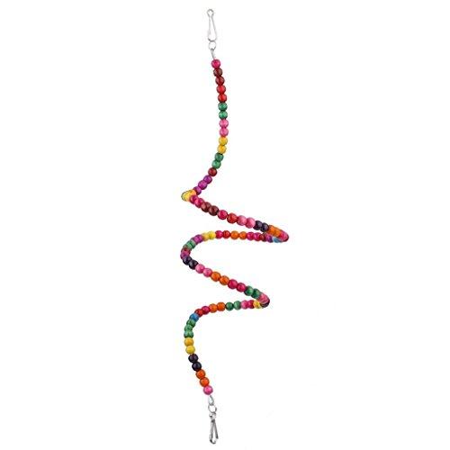 Yeah67886 Creative Twistable Parrot Jouet pour Oiseau en Perles de Bois balançoire d'escalade Échelle (Multicolor)