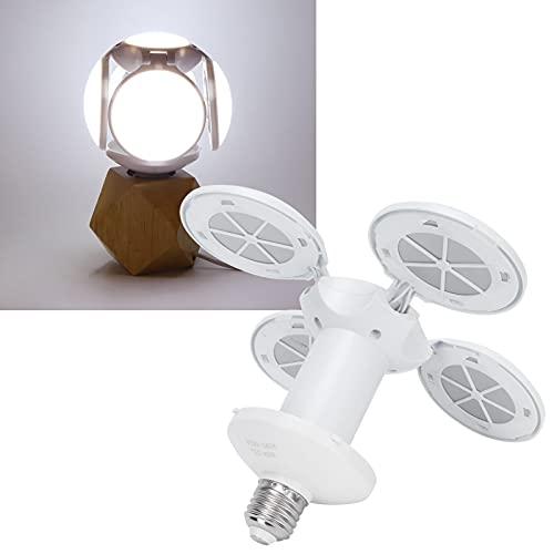 COHU Lámpara de Techo, Bombilla LED Plegable de bajo Consumo de energía Iluminación Integral de 360 Grados para fábricas, talleres, oficinas, Muebles para el hogar, para la mayoría de Las