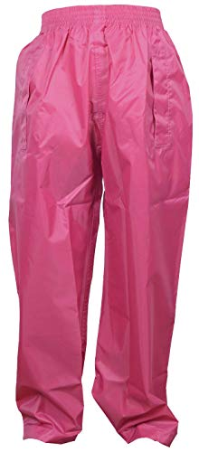 The MONOGRAM Group Ltd Dry Kids Kinder Regenhose - Rosa 9/10 Jahre