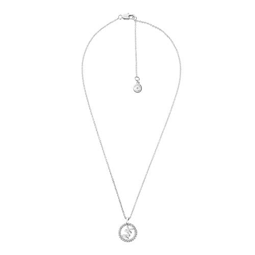 Michael Kors Silver-Tone Brass Necklace, 16in with 2in Extender, 3/4in...