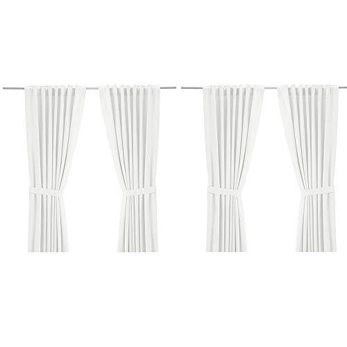 IKEA Ritva White Curtain Set - Size: 57 x 98 (1, White)