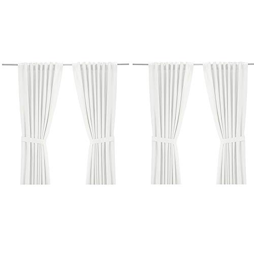 IKEA Ritva White Curtain Set - Size: W:57' x L98 (2 Pair, White)