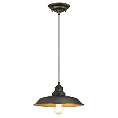 Westinghouse Lighting One-Light Indoor Pendant, Bronce Aceitado, Lámpara de techo colgante con 1 luz
