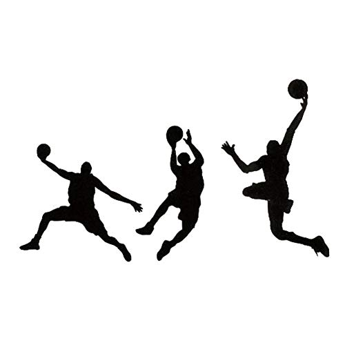 EROSPA® Tattoo-Bogen temporär/Sticker - Basketball Handball Spieler - Wasserfest