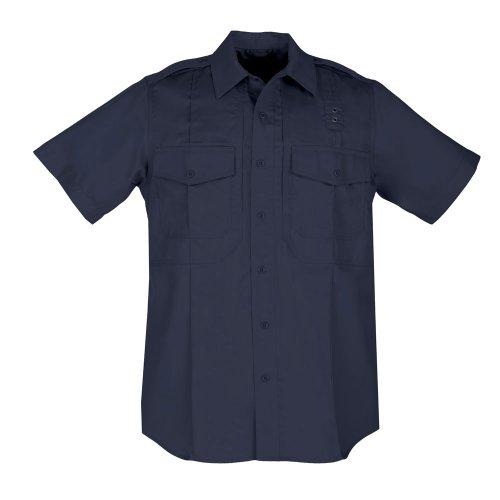 5.11 Taclite T-Shirt à Manches Courtes en Polycoton pour Femme, Femme, 61168, Bleu Marine, L Tall