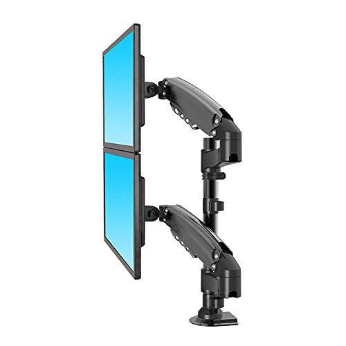 Soporte De Monitor Soporte para Monitor De Pantalla Dual Soporte para Monitor Apilado hacia Arriba Y hacia Abajo Ajuste Plegable Multifuncional