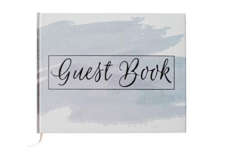"""Dusty Blue Wedding Guest Book Hardcover Polaroid Album Photo Guestbook Bridal Shower, Baby Shower, Airbnb Registry Sign in Modern Beautiful Hardbound Book 10"""" x 8"""" (100 Unlined Blank Pages)"""