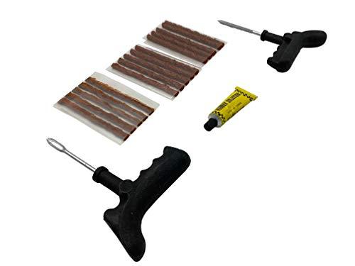 Kit Repara Pinchazos Kit Antipinchazos Coche Mechas Pinchazos Ideal para Reparar Neumaticos.