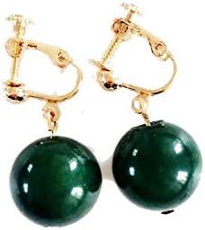 Ranking TOP19 YTGUEVKDH Vintage Imitation Green Jade Women's Screw Clip Ear OFFicial store Ad