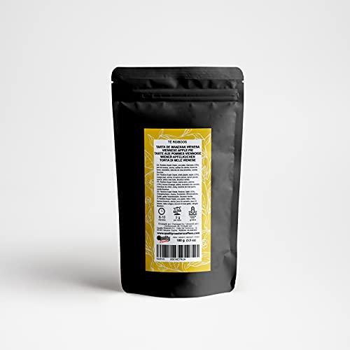 Quality Roasters Coffees Té Rooibos Tarta de Manzana. Mezcla. Manzana (12%), naranja, canela, limón, vainilla, uva pasa, membrillo. Antioxidante. 100 gramos