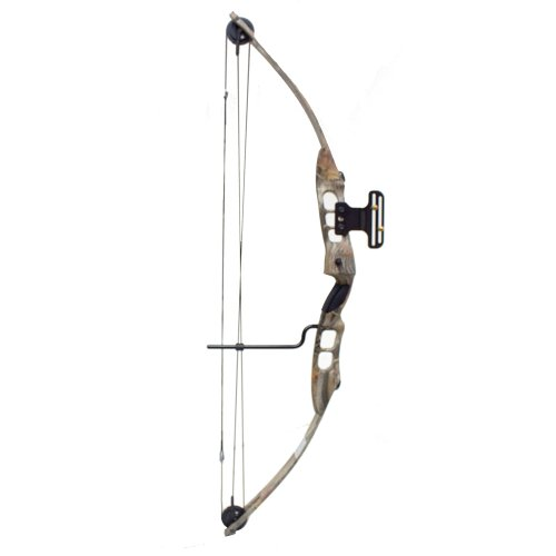 55 Lb 27-29'' Draw Length Compound Bow with Cable Guard, Sight and Arrow Rest (Autumn Camo)