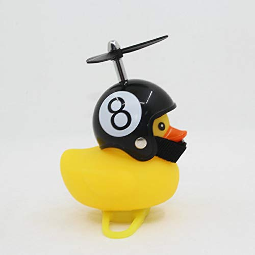 QiKun-Home Caricatura Little Yellow Duck Bike Bells Adecuado para Bicicleta Plegable MTB Bocina de Bicicleta Sonido Fuerte Accesorios de Bicicleta Anillo de Campana Amarillo Negro 8 Casco de Billar